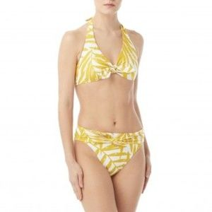 Carmen Marc Valvo Imperial Palm Tie Bikini Small